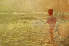 Free Child And The Sea Stock Photo - 3190360