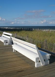 Free Two Benches Stock Images - 3191414