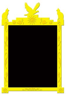Decorative Golden Frame Royalty Free Stock Photo