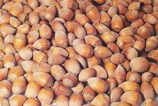 Free Food Background With Hazelnuts Stock Photo - 3192360