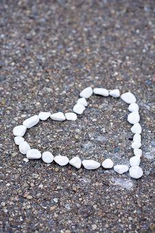 Heartshape Stones Stock Images