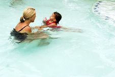 Swimming Lessons Stock Photos