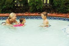 Swimming Lessons Royalty Free Stock Photos