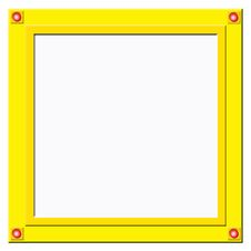 Golden Frame With Red Balls Stock Photo