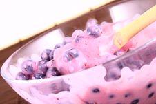 Yogurt Blueberries Stock Photos