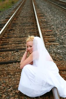 Free Stressed Bride Royalty Free Stock Photos - 3193128