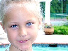 Free Cute Blue Eyed Girl Royalty Free Stock Photo - 3193365