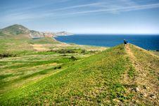 Free Hills, Sea And Man Stock Image - 3194991