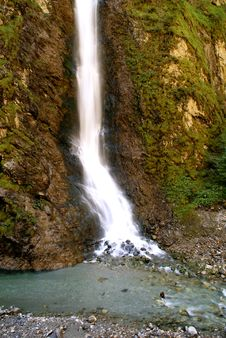 Mountain Waterfall Stock Images