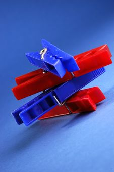 Colorful Clips Royalty Free Stock Photo