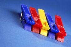 Colorful Clips Stock Photos