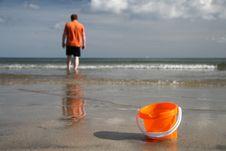 Free Sand Bucket On The Beach Royalty Free Stock Photo - 3198235