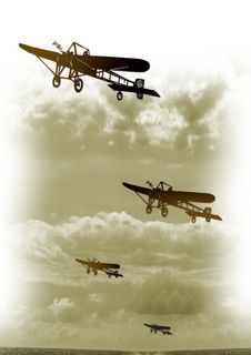 Vintage Plane At War Royalty Free Stock Photos