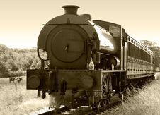 Free Steam Train Sepia Royalty Free Stock Photos - 3198698