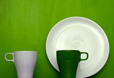 Free Cups And Plate Theme Stock Images - 3198934