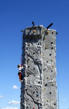 Free Young Rock Climber Stock Photo - 3199080