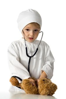 Free Child Plays The Doctor Stock Images - 3199144