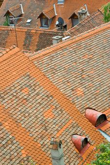 Free Red Roofs Stock Photography - 3199952