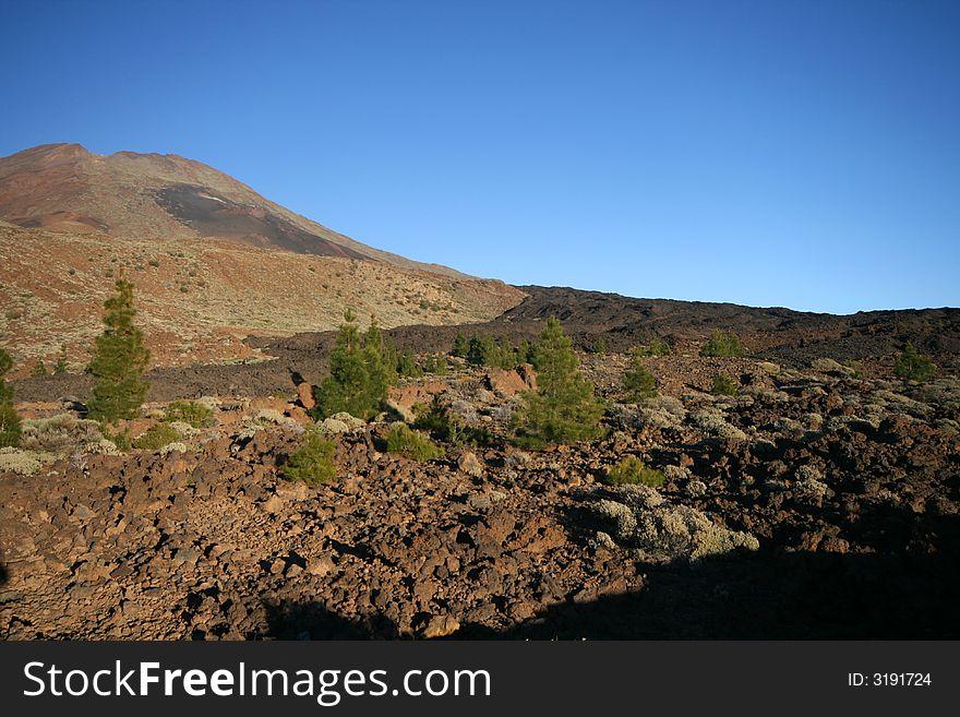 Black lava river