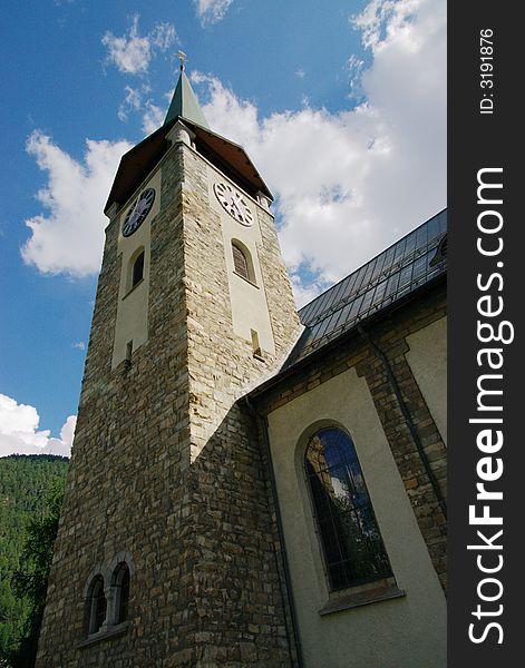 Church clock tower