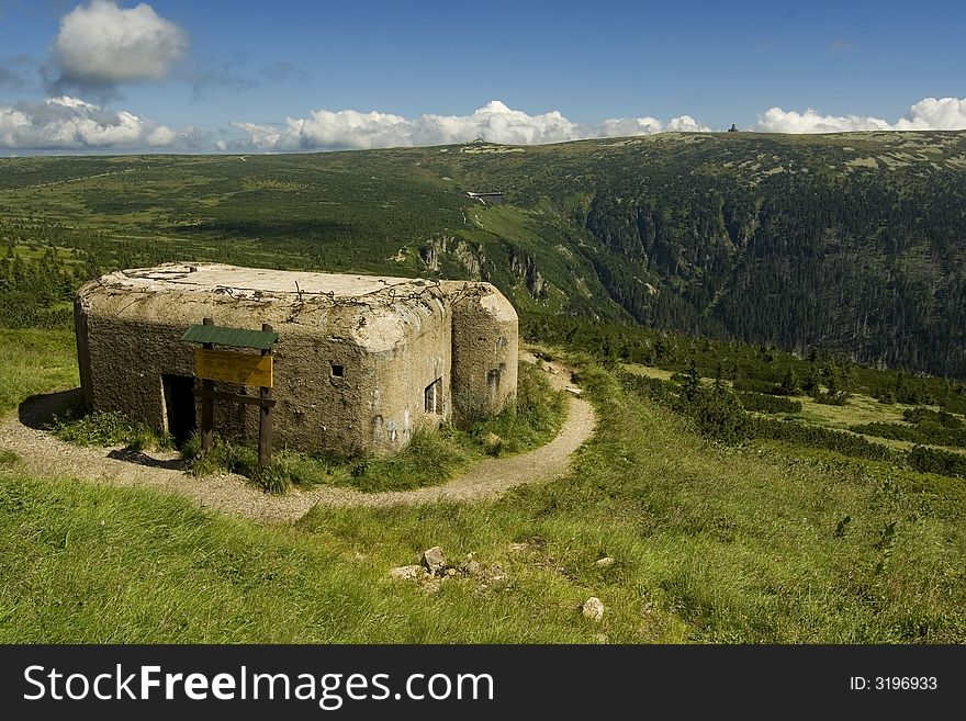 The blockhouse in mountain