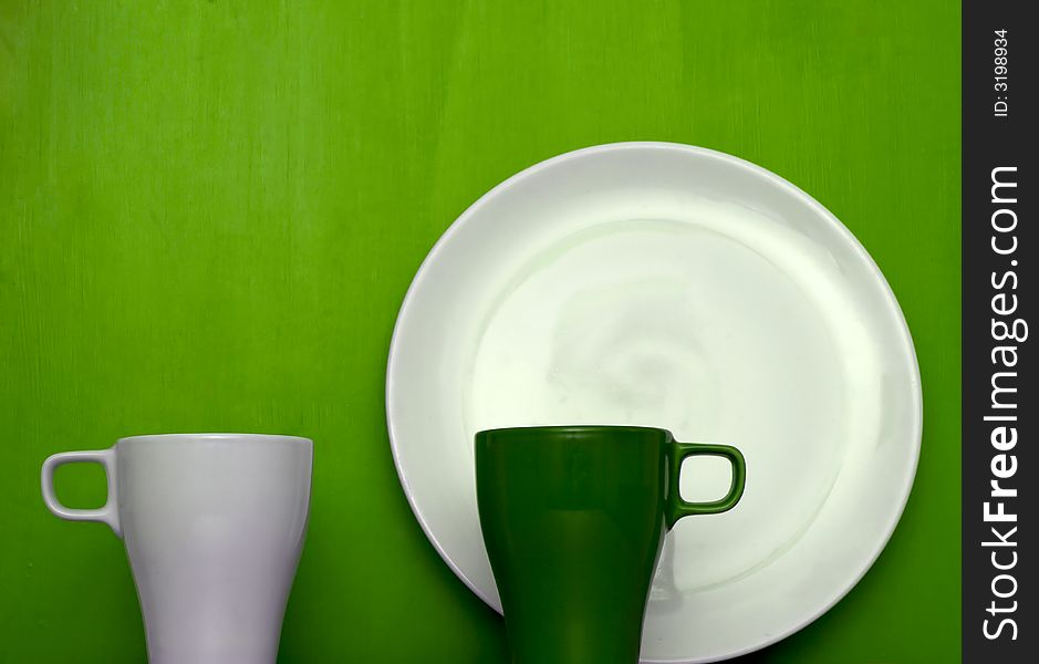 Cups and plate theme