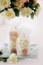 Free Still-life Whith Delicate Roses And Candles Royalty Free Stock Photography - 31906597