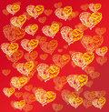 Free Hearts On Red Background Stock Photos - 31909763