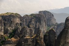 Meteora Rocks Royalty Free Stock Photo