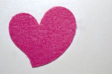 Free Felt Heart Royalty Free Stock Image - 31913086