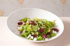 Fresh Beet And Feta Salad Royalty Free Stock Photo