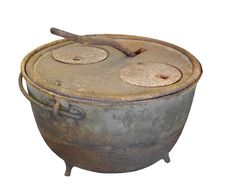 Free Old Kettle Stove Isolated. Stock Photography - 31917922