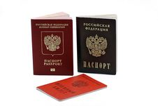 Free Documents Confirming Their Identity. Passport Of The Citizen Of The Russian Federation And The Passport Of A Citizen Of The Russia Royalty Free Stock Photo - 31919805