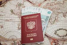 Passport And Money Royalty Free Stock Photos