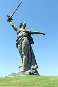 Free Monument Motherland Is Calling On Mamaev Hill. Stock Images - 31921454