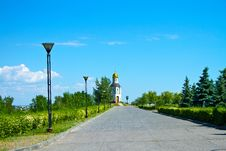 Avenue To The Temple-chapel In Honour Of The Vladimir Icon Of The Mother Of God