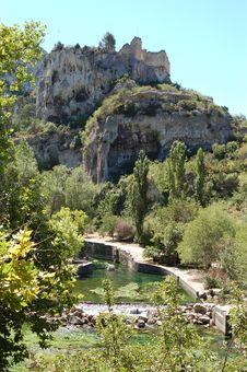 Mountains Of Fontaine De Vaucluse, France Stock Photography