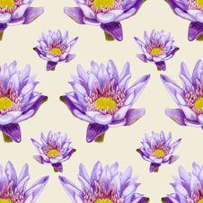 Free Hand-drawn Lotus Seamless Pattern Royalty Free Stock Image - 31933586