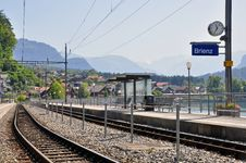 Free Swiss Train Station Stock Photography - 31934922