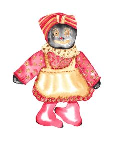 Rag Doll Watercolor Stock Images