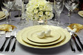 Free White Wedding Dining Table Setting Royalty Free Stock Images - 31946399