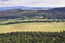 Panorama Of Sudety Mountains Royalty Free Stock Photography