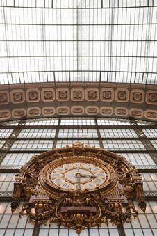 Free Large Ornate Railway Clock In Orsay, Paris Stock Photo - 31947170