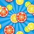 Free Slices Of Funny Fresh Citrus Fruits On Blue Beams Royalty Free Stock Photography - 31959577