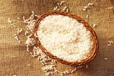 Uncooked White Rice Royalty Free Stock Photo
