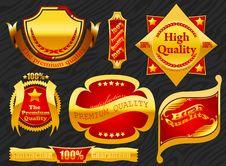 Premium Label Golden