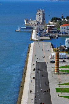 Free Belem Tower From Above Stock Images - 31954414