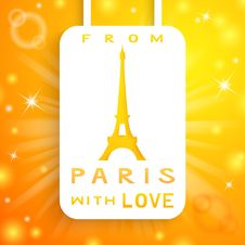 Free Eiffel Tower Applique Background. Vector Royalty Free Stock Images - 31954759