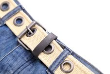 Free Frame. Jeans And Belt. Stock Photography - 31957902