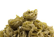 Free Tagliatelle With Spinach On Napkin, Closeup Royalty Free Stock Photo - 31957935
